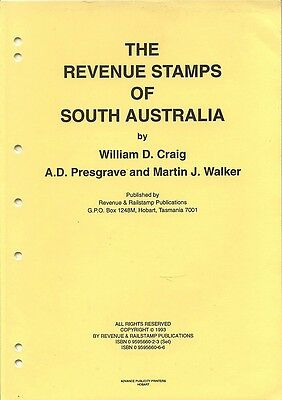 The REVENUE STAMPS of SOUTH AUSTRALIA, looseleaf catalogue, 1993