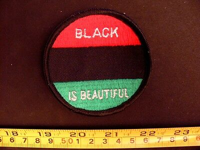 Embroidered Patch BLACK IS BEAUTIFUL power 1970's ORIGINAL activism cultural ww