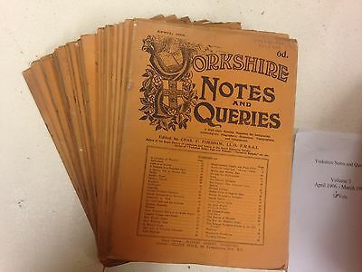 Yorkshire Notes & Queries (collection of 33 issues from 1905-1908)