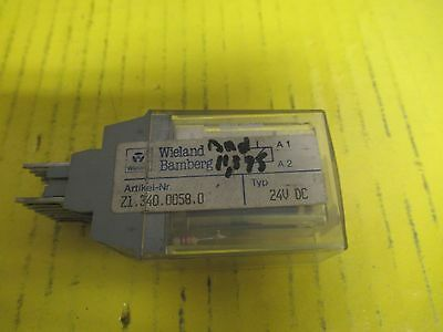 Wieland Bamberg WEB 1002 Module With SPW-611-S Coil 115V 60Hz Used