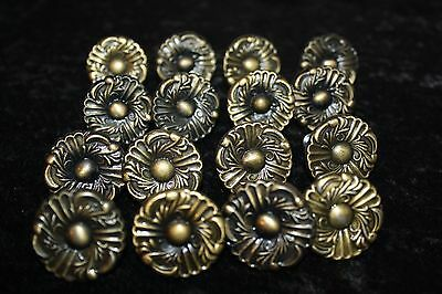 "Set Of 16 Bronze/gold Round 1.5"" Drawer Door Cabinet Knobs Pulls"