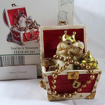 Charming Tails Figurine You're A Treasure Chest NIB