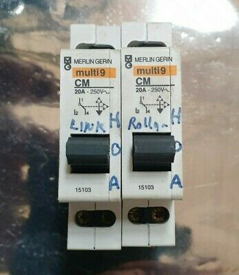 2 Pcs Of Merlin Gerin Multi9 Cm 20A Single Pole Contactor (R3S3.6B1)