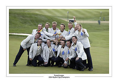 Team Europe 2004 Ryder Cup Winners  A4 Print Photo Golf