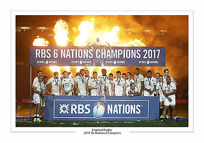 2017 Six Nations Champions A4 Print Photo England Rugby Union 2