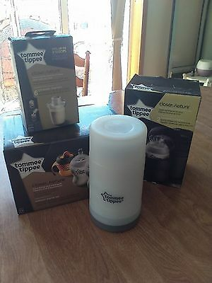 Tomme Tippee starter set, travel food and bottle warmer, insulated bags, formula