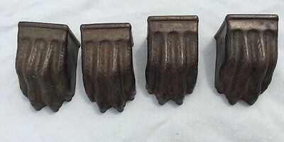 Duncan Phyfe 4 Vintage Metal Lions Claw Table Ends