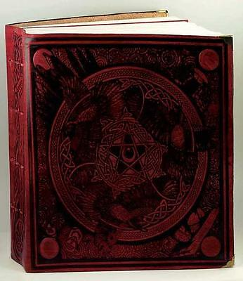 Massive Red Leather MORRIGAN Book of Shadows!