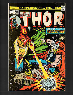 Thor #232 Feb 1975 Marvel Fire-Lord FN