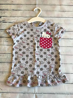 Baby Girls Clothes 18-24 Months- Cute Hello Kitty's T Shirt  Top