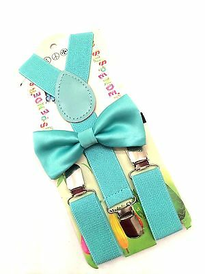 Santa Says Mint Suspender and Bow tie boys toddlers baby children For Christmas