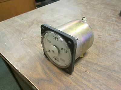 GE AC Ammeter 103131LSUE7BLD Range: 0-4000A *Missing Phase Plate Screw* Used