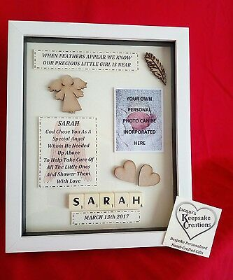 Memorial Picture Frame Keepsake Personalised Baby Child Son Daughter Heaven