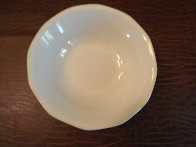 """Home Trends CANOPY WHITE Soup Bowls Cereal - 7."""" looks unused 12  sided"""