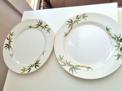 "Kent China Bali Hai Bamboo China 2 Salad Plates 7.5"" Wide"