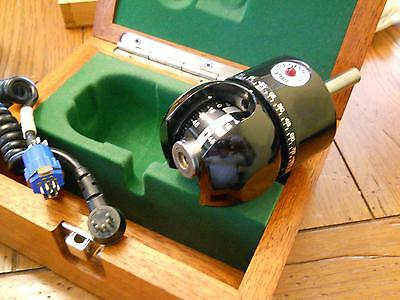 Renishaw PH8 Manual Indexable CMM Probe Head with cable in a nice wooden box