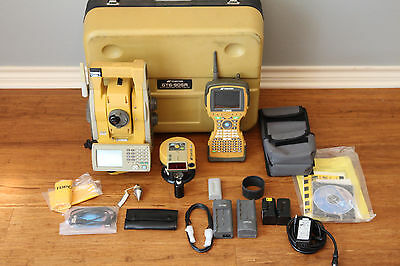 """Topcon GPT-905A 5"""" Robotic Total Station Setup w/ RC-3, FC-2500 Collector SurvCE"""