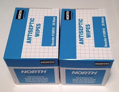 40-Packets North Antiseptic Wipes First Aid Kit Refill Box NEW (6B3)