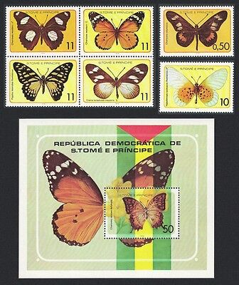 Sao Tome Butterflies 6v+MS SC#501--507