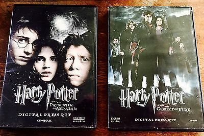 Harry Potter And The  Prisoner Of Azkaban & Goblet Of Fire Digital Press Kit Set