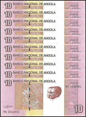 Angola 10 Kwanzas X 10 Pieces (PCS), (2012) 2017, P-NEW, UNC