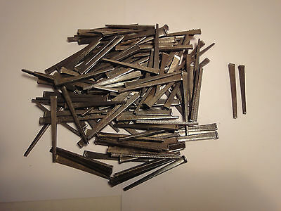 "Vtg. Lot Of 100 Flat Head Square Nails - 2 1/4"" - 2 1/2"" - Professionaly Cleaned"