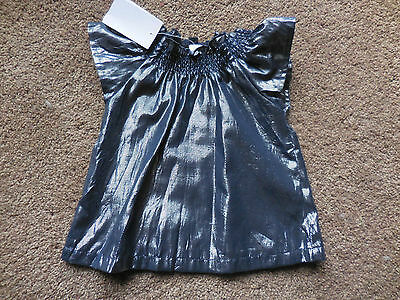 Girls Shiny Lurex Target Top With Under Shirt - Size 0 - Brand New With Tags