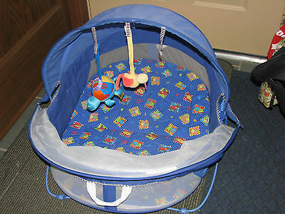 Fisher Price Bounce and Play Activity Dome Sunshade Screen Baby Infant Camping