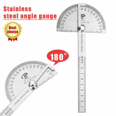 Stainless Steel 180° Protractor Angle Finder Rotary Measuring Ruler Radial Line