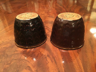 A Rare Pair Chinese Antique Brown Glazed Porcelain Jars.