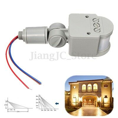 2pcs 240V Automatic LED Outdoor Infrared PIR Motion Sensor Detector Light Switch
