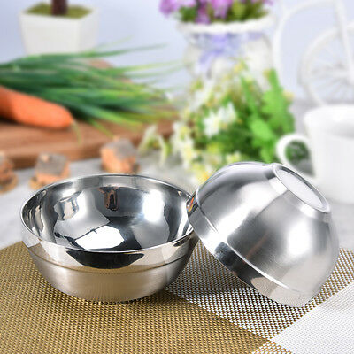 High End Stainless Steel Salad Rice Bowl Ball Shaped Salad Mixing Bowl 2 Size