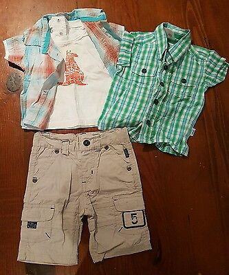 Boys Pumpkin Patch shirt shorts bulk summer newborn baby 0000