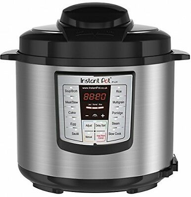 Instant Pot Lux 60 V3 6-in-1 Programmable Electric Pressure Cooker with Steel 6