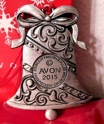 Avon 2015 Pewter Bell Ornament  Nib