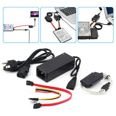 SATA/PATA/IDE to USB 2.0 Adapter Converter Cable For 2.5/3.5 Inch Hard Drive Set