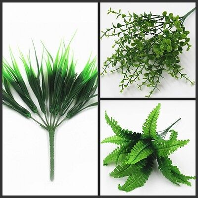 1PC Artificia Plastic Green Grass Plant Flowers Office Home Garden Decoration