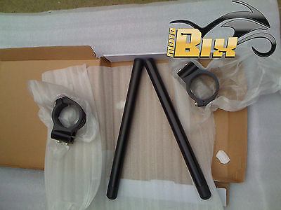 Kit Semimanubri Dimensione 45 Mm Nero In Ergal 6061 Honda Cbr 600 Rr 2003 2004
