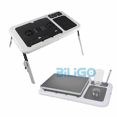 Adjustable Portable Folding Laptop Computer Desk Table Stand Tray For Bed Sofa