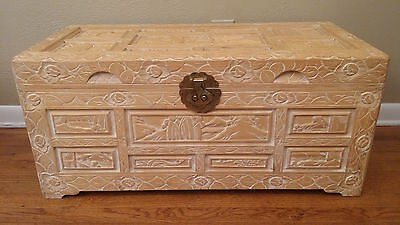 Hand Made Hand Carved Chinese Camphor Chest