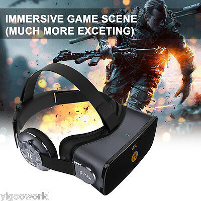 PiMax Virtual Reality 4K 3D Dual Gyroscope Glasses VR Moive PC Headset 360° View