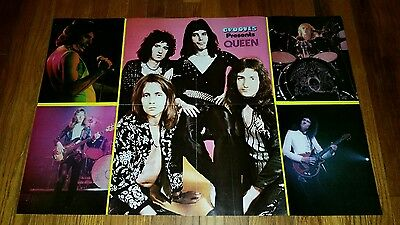 True Vintage Grooves Magazing QUEEN / AEROSMITH Double Sided Poster Insert 1970s
