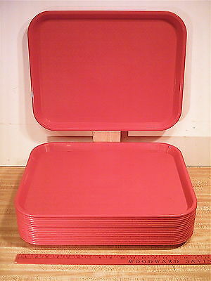 Used,14x18,Red,Polypropylene,Carlisle #NCT1418,Cafereria, Plant DRIP PAN TRAY