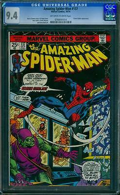 Amazing Spider-Man # 137 At the Mercy of The Goblin  !  CGC 9.4  scarce book !