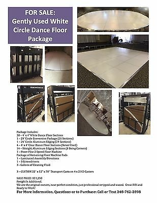 WHITE Circle Portable Dance Floor Package Plus a Ton of Extras, CPDFC