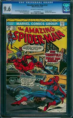 Amazing Spider-Man # 147  The Tarantula Takes the Game !  CGC 9.6  scarce book !