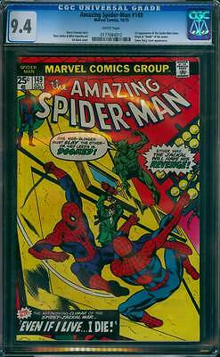 Amazing Spider-Man # 149  Even if I live...I Die !  CGC 9.4  scarce book !