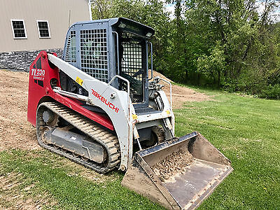 2011 Takeuchi TL230 Series 2 Skid Steer Kubota Diesel Low Hours Heat A/C Radio