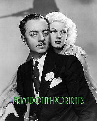 "JEAN HARLOW & WILLIAM POWELL 8X10 Lab Photo 1935 ""RECKLESS"" Publicity PORTRAIT"