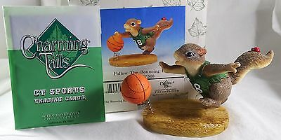Charming Tails Figurine Follow the Bouncing Ball SIGNED  Basketball